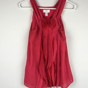 ANN TAYLOR LOFT RED TANK CAMISOLE BLOUSE